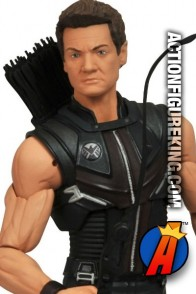 Marvel Select Avengers Movie Hawkeye figure based on the likeness of actor Jeremy Renner.