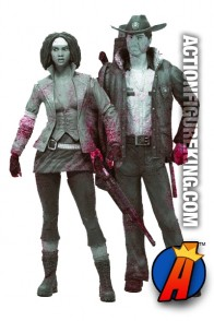 McFarlane Toys two-pack of Rick Grimes and Michonne (black and white versions).