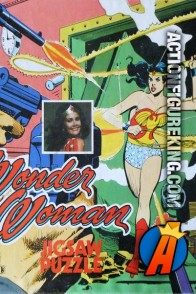 Wonder Woman 11-Inch square jigsaw from 1977 featuring Linda Carter.