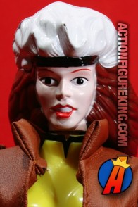 The X-Men's Rogue as a Deluxe 10-inch scale action figure with 6 points of articulation and a pleather-like jacket.