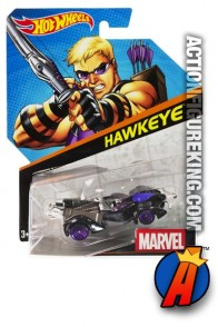 Avengers Hawkeye die-cast car from Hot Wheels.