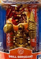 Skylanders Spyro's Adventure Gold Drill Sergeant figure from Activision.