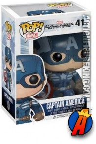 A packaged sample of this Funko Pop! Marvel Captain America 2 vinyl figure.