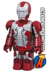 Miniature Medicom Kubrick articulated Iron Man 2 Silver Centurion action figure.