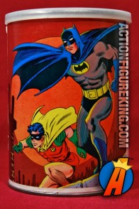 Beautiful art is featured on this 1973 APC 81-piece Batman with Robin canister jigsaw puzzle.