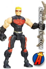 From the pages of the Avengers comes this 6-Inch Marvel Super Hero Mashers Hawkeye Action Figure from Hasbro.