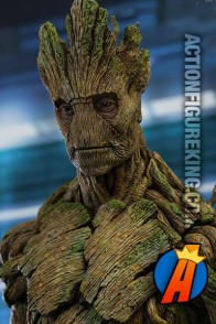Marvel Comics and Hot Toys present Groot as a 15.5 inch action figure.