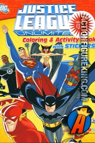 Bendon presents this Justice League Unlimited coloring and activity book.