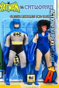 DC Superheroes Retro Cloth 8-Inch Figures Two-Pack of Batman versus Catwoman from Figures Toy Company.