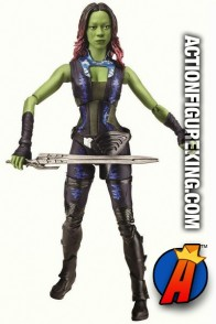 Fully articulated 6-inch scale Gamora Marvel Legends action figure from Hasbro.