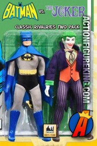 DC Superheroes Retro Cloth 8-Inch Figures Two-Pack of Batman versus Joker from Figures Toy Company.