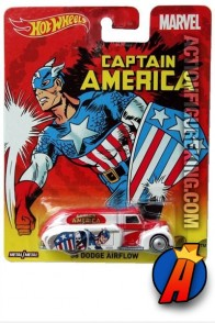 Avengers Captain America 1938 Dodge Airflow die-cast vehicle from Hot Wheels.