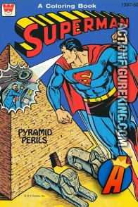 Superman Pyramid Perils Coloring Book from Whitman.