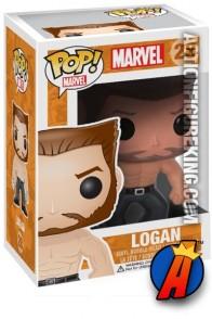 A packaged sample of this Funko Pop! Marvel Logan Wolverine vinyl figure.