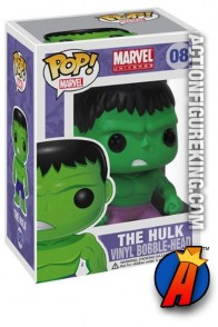 A packaged sample of this Funko Pop! Marvel Hulk vinyl figure number 8.