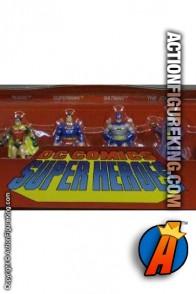Set of 6 DC Comics Super-Heroes 2 inch die-cast metal figures.