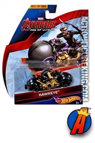 Cool Avengers Age of Ultron Hawkeye cycle from Hot Wheels.