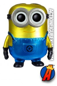Funko Pop! Movies Despicable Me 2 variant Metallic Dave vinyl bobblehead figure.