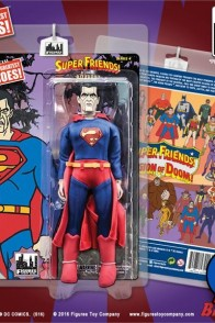 Mego-style eight-inch Super Friends Bizarro action figure.