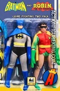 DC Superheroes Retro Cloth 8-Inch Figures Two-Pack of Batman and Robin from Figures Toy Company.