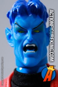 Marvel Famous Cover Series 8 inch Nightcrawler action figure with fabric outfit from Toybiz.