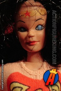 Fully articulated Mego 8-inch Wonder Woman action figure with removable fabric outfit.
