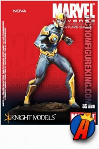 Marvel Universe 35mm NOVA Metal Figure from Knight Models.