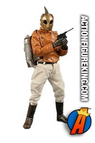 Sixth scale Medicom Real Action Heroes fullt articulated Rocketeer action figure with authentic fabric outfit.