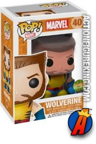 A packaged sample of this Funko Pop! Marvel Wolverine Unmasked vinyl bobblehead figure.