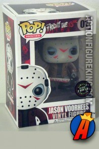 Funko Pop! Movies Glow-In-The-Dark Jason Vorhees vinyl bobblehead figure.