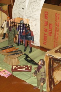 Mego Planet of the Apes Village playset.
