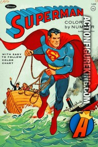 Superman Color By Number Coloring Book from Whitman.