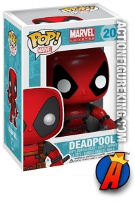 A packaged sample of this Funko Pop! Marvel Deadpool vinyl figure.