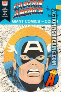 Captain America Giant Comics to Color coloring book from Whitman.