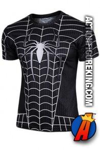 Cool Spider-Man black short sleeve t-shirt.