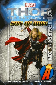 Thor the Dark World Son of Odin Coloring and Activity book front cover artwork.