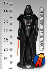 "STAR WARS life-Size DARTH VADER Action Figure stands 6' 9"" high!"
