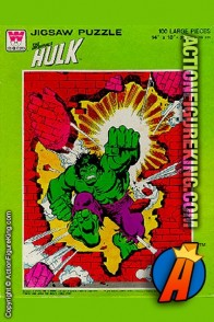 1979 100-Piece Incredible Hulk jigsaw puzzle from Whitman.