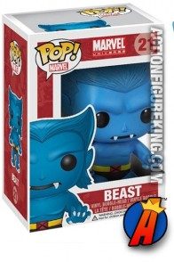 A packaged sample of this Funko Pop! Marvel Beast vinyl figure.
