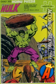 1976 Whitman The Incredible Hulk 200-piece jigsaw puzzle (4675).