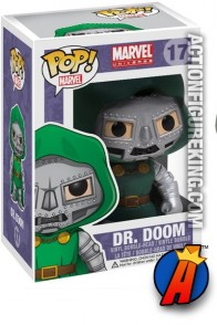 A packaged sample of this Funko Pop! Marvel Dr. Doom vinyl figure number 17.