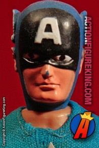 From the pages of the Avengers comes this Mego 8-inch scale Captain America action figure with authentic fabric outfit.