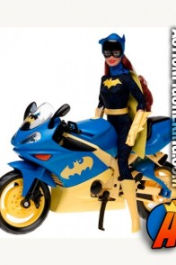 12-inch Barbie dressed as Batgirl with motorcycle from Mattel.