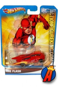 DC Universe The Flash die-cast vehicle from Hot Wheels.