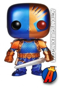 Funko Pop! Heroes Previews Exclusive Metallic Variant Deathstroke vinyl figure.