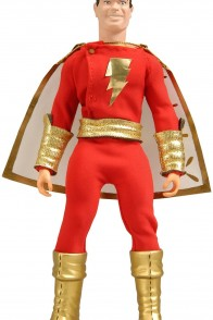 Mattel 8 Inch Shazam! Action Figure with removable fabric outfit.
