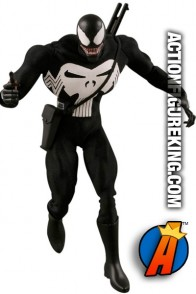 Marvel and Medicom presents this Real Action Heroes 12 inch Venom as Punisher action figure with removable fabric outfit.