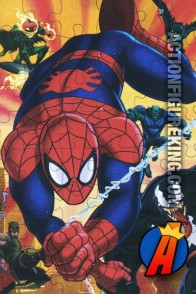 SPIDER-MAN vs. his foes in this 48-piece jigsaw puzzle.