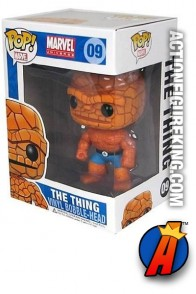 Funko Pop! Marvel Fantastic Four Thing vinyl figure number nine.