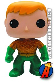 Funko 6-inch Pop Heroes New 52 Aquaman figure.